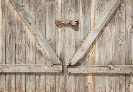 Wooden door wall  background or texture Stock Photo