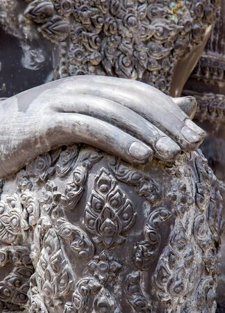 hand of buddha statue in antique asia