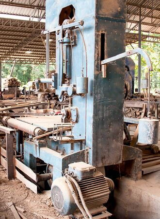 Machines for wood lathe in a factory to prepare work.