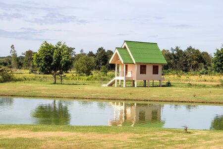 Small home in meadows and marshes.