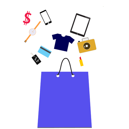 Shopping bag with purchase