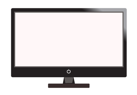 computer screen: computer display isolated on white