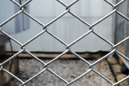 wire mesh: wire mesh fence,soft focus