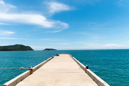 extending: Bridge extending to the sea