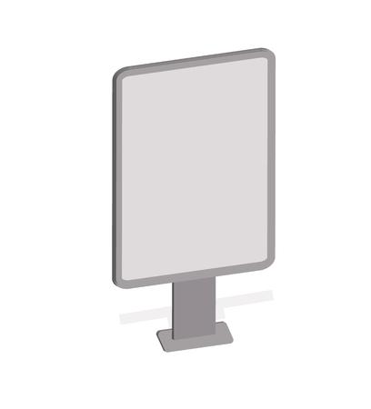 outdoor blank billboard: Vector mockup billboard, blank billboard, Outdoor advertising citylight