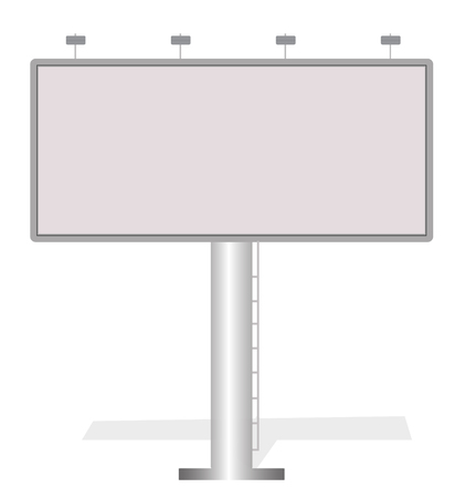outdoor advertising: Business white big billboard for advertising, commercial, advertisement blank, outdoor