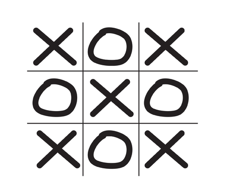 crosses: Illustration of tic tac toe game isolated on white background