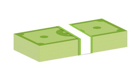 money packs: Packs of dollars money.