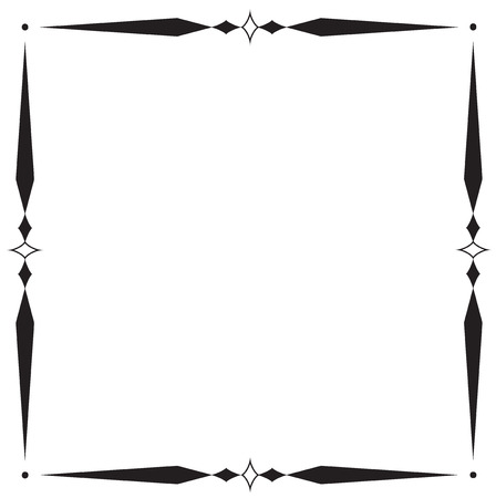 frame and boder on white background.