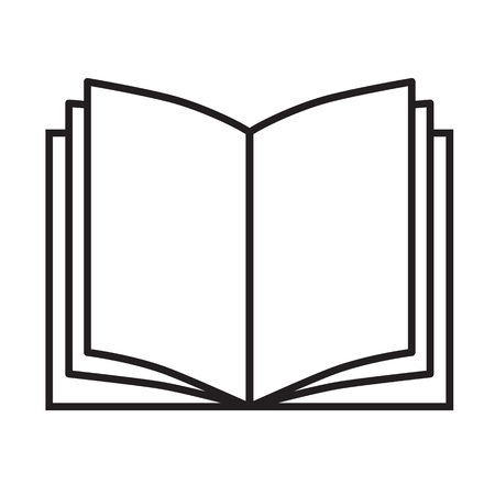 book icon on white background. book sign. flat style. open book symbol.