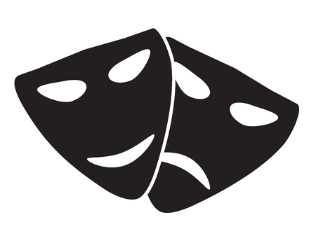 Theater masks. Vector art