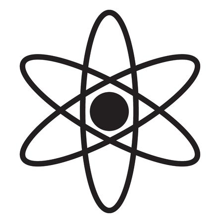 Molecule Icon, Atom icon, Atom icon on white background