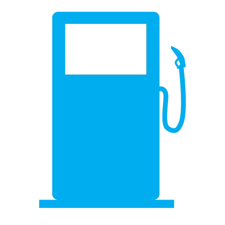 gas station icon on white background. Vector illustration.