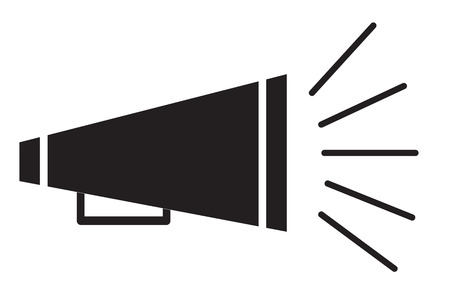 bullhorn symbol Vector illustration. Illustration