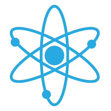atom icon, atom icon on white background
