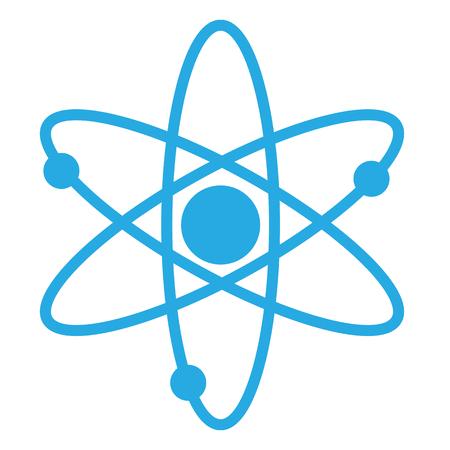 atom icon, atom icon on white background