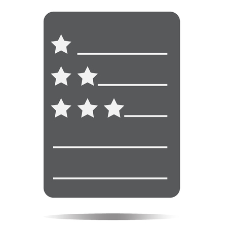 Review ratings icon on white background. Illustration