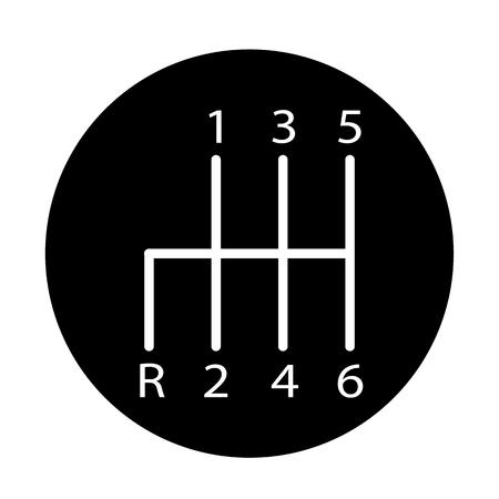Manual transmission icon on white background. Manual transmission sign. flat style.