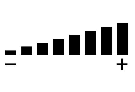 icona del volume su sfondo bianco. segno del volume. stile piatto.
