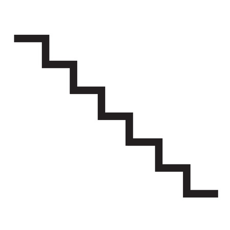staircase icon on white background. flat style design. staircase sign.