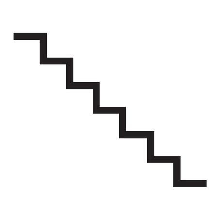 icône de l & # 39 ; escalier sur fond blanc. design plat illustration. signe d & # 39 ;