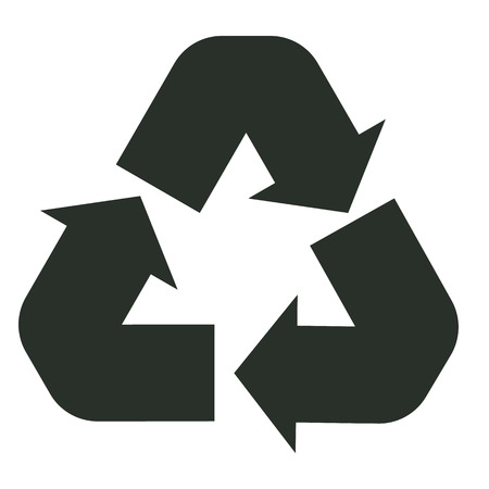 recycle icon on white background. Illustration