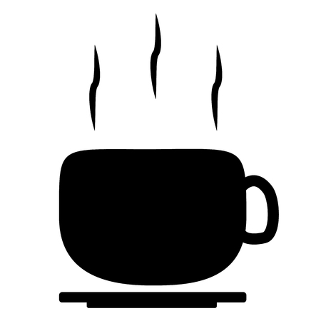 lunch break icon on white background. coffee break sign. flat style. coffee label.  イラスト・ベクター素材