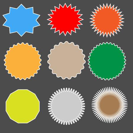 set starburst on black background. starburst sign. bursting speech star set. starburst speech bubbles. bursting icon.