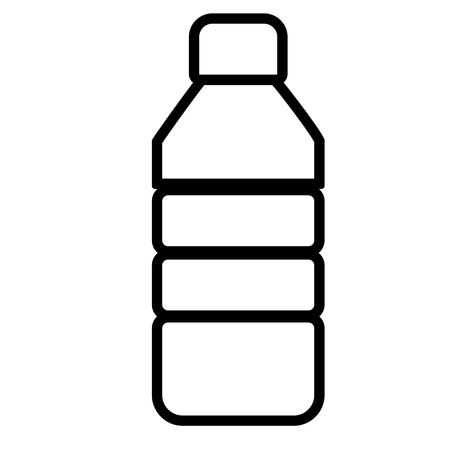 Plastic bottle line sign. plastic bottle icon on white background.  イラスト・ベクター素材