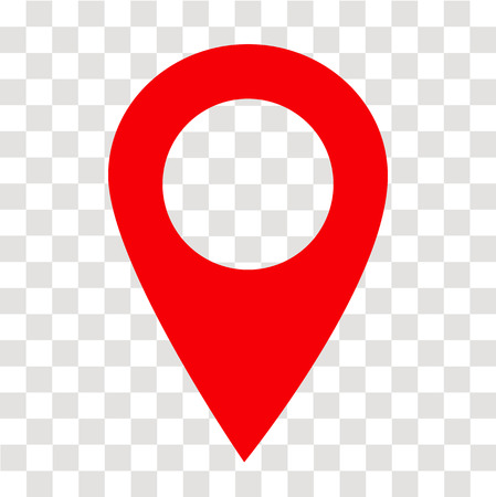 location pin icon on transparent. location pin sign. flat style. red location pin symbol. map pointer symbol. map pin sign.