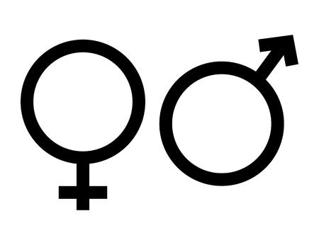 gender icon in trendy flat style on white background. gender symbol for your web site design, logo, app, UI. Heterosexual gender symbol. symbols of men and women. Ilustração