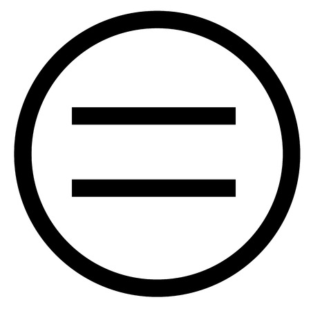 equal sign. flat style. equal icon illustration isolated on white background. equal icon for graphic design, Web site, UI. math symbols glyph icon. Vectores