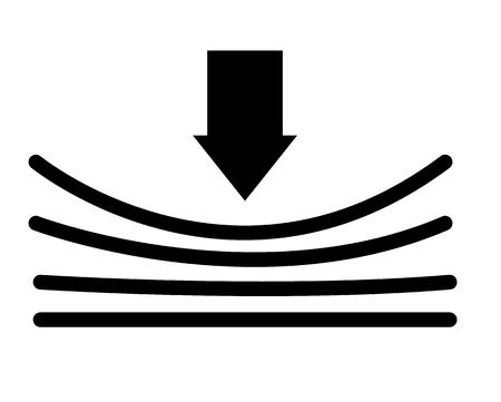 elastyczna ikona z cieniem na białym tle. płaski styl. elastyczna ikona do projektowania stron internetowych, logo, aplikacji, interfejsu użytkownika. elastyczny znak. Logo