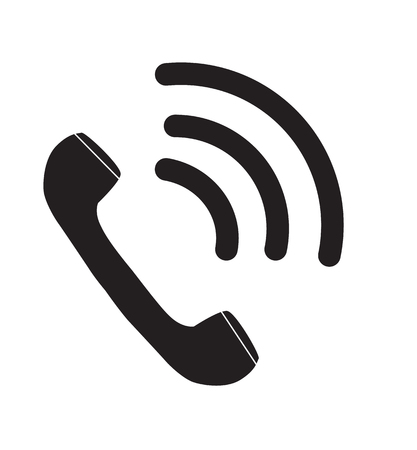 phone icon in trendy flat style isolated on white background. telephone symbol. double click icon symbol for your web site design, logo, app, UI. telephone ringing sign. Stock Vector - 109503991