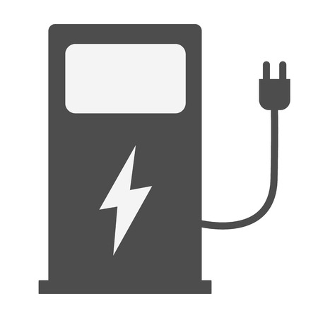 electric vehicle charging station on white background. EV charge point for electric vehicles. flat style. Electric car charge station icon for your web site design, logo, app, UI.