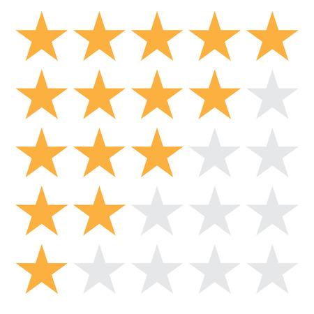 5 star rating icon vector illustration . 5 star rating sign on white background. flat style. 5 star rating symbol for your web site design, logo, app, UI. Ilustração