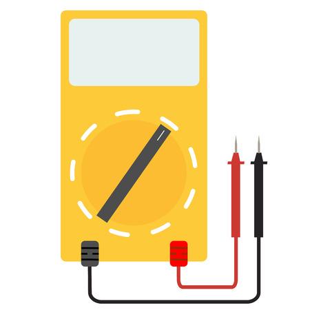 Digital-Multimeter. elektrisches Messgerät auf weißem Hintergrund. einfaches digitales Multimeterzeichen. Lineares Zeichen für mobiles Konzept und Webdesign.