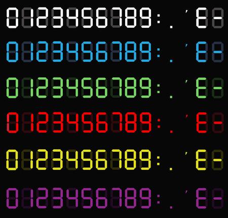 set of calculator digital numbers. electronic figures. LCD digital number. clock digital. calculator liquid crystal digital numbers on background.