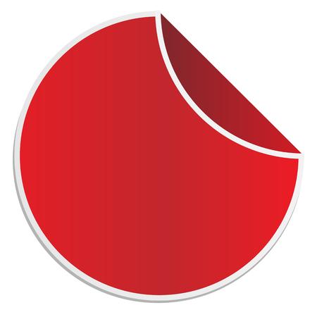 empty promotion lable on white background. red sticker. red vector sticker. Vektorové ilustrace