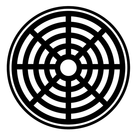 icono de alcantarillado sobre fondo blanco. icono de alcantarillado para el diseño de su sitio web, logotipo, aplicación, interfaz de usuario. estilo plano. Signo de tapa de tubería. Logos