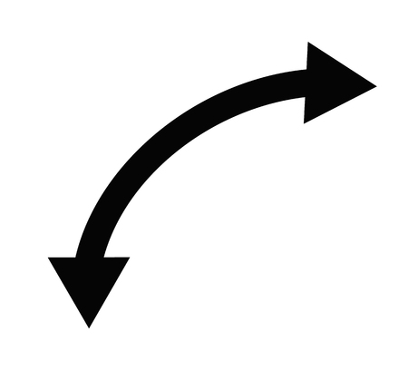 U-Turn icon on white background. flat style. U-Turn sign for your web site design, app, UI. curve arrow symbol.