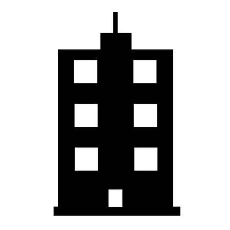 buildings icon on white background. flat style. residential sign for your web site design, app, UI. tower skyscraper symbol. height building icon.