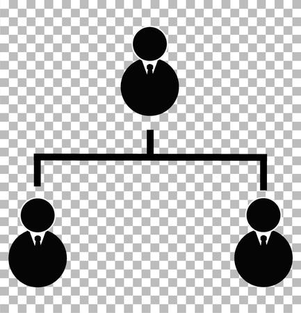 business hierarchical icon on transparent background. business hierarchical sign. flat style. hierarchy structure concept. business hierarchy icon for your web site design, app, UI.