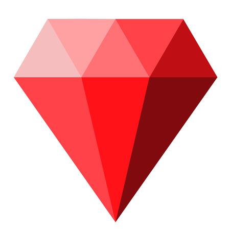 red diamond icon on white background. diamond sign. flat style. red diamond icon for your web site design, logo, app, UI. red gems symbol. ruby sign.