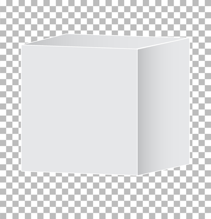 blank white carton 3d box icon on transparent background. gray 3d box sign. flat style. box package mockup icon icon for your web site design, logo, app, UI. blank box symbol.
