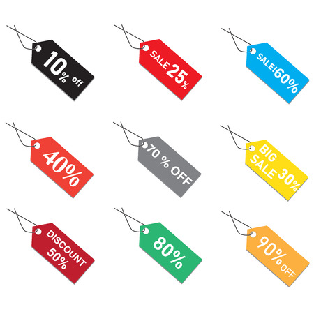 discount prices tags on white background. sales bags  sign. flat style. prices tag icon for your web site design, logo, app, UI. sale price tag symbol.
