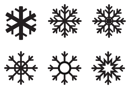 snowflake winter icon on white background. flat style. snowflake icon for your web site design, logo, app, UI. various winter snowflakes. set of vector snowflakes. 向量圖像