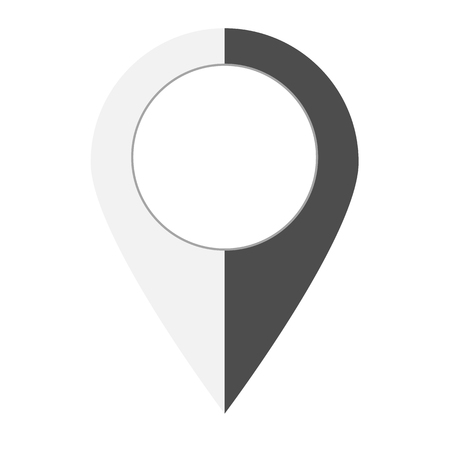 map point icon on white background. flat style. pin pointer location icon for your web site design, logo, app, UI. pin point sign. map symbol. 向量圖像