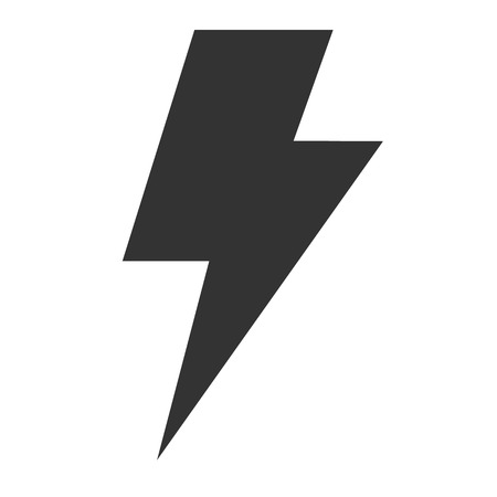 thunder icon on white background. flat style. lightning icon for your web site design, logo, app, UI. flash sign. energy symbol. electric sign.