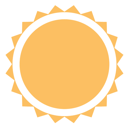 sun icon on white background. flat style. sun icon for your web site design, logo, app, UI. summer symbol. sunlight sign.